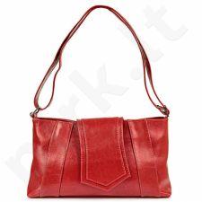 DAN-A T104 raudona rankinė, odinė, moterims