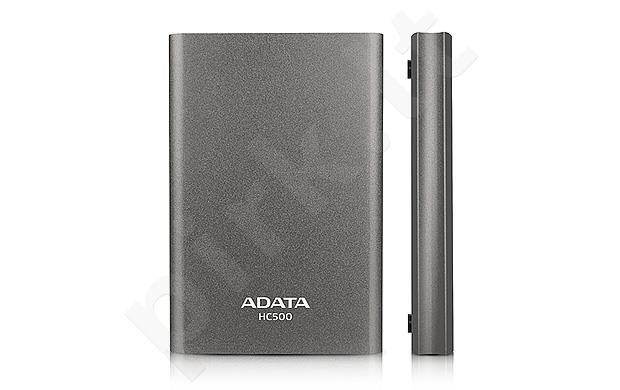 External HDD Adata HC500 2TB USB 3.0, 115 x 77.6 x 15.5mm, Titanium  matte
