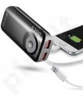 5200 mAh išorinė baterija FREEPOWER Cellular juoda