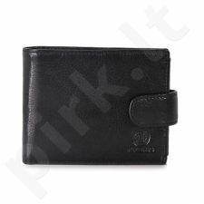 KRENIG Classic 12080 - IŠSKIRTINĖ juoda odinė piniginė, vyrams