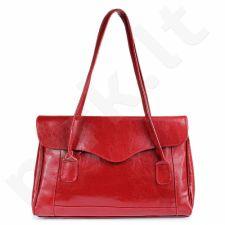 DAN-A T41 raudona rankinė, odinė, moterims