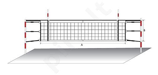 Tinklinio tinklas ECONOM PP-9,5x1m 100x100x2,5mm,