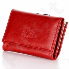 P10 raudona piniginė iš natūralios odos, moterims