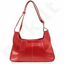 DAN-A T101 raudona rankinė, odinė, moterims