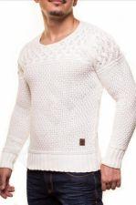 Vyriškas megztinis CRSM - baltos spalvos 9503-2