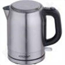 CLoer 4529 Standard kettle, Stainless steel, Stainless steel/Black, 2200 W, 360° rotational base, 1.7 L