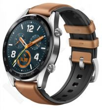 HUAWEI WATCH GT SILVER WITH LEATHER STRAP