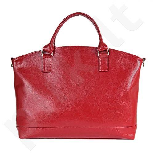 DAN-A T194 raudona rankinė, odinė, moterims
