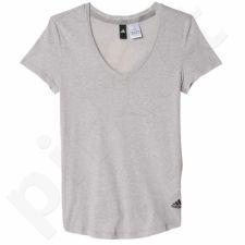Marškinėliai Adidas Logo V-neck Tee W AY0176