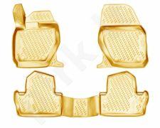 Guminiai kilimėliai 3D VOLVO S60 2010->, 4 pcs. /L64001B /beige