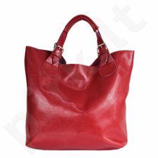 DAN-A T219 raudona rankinė, odinė, moterims