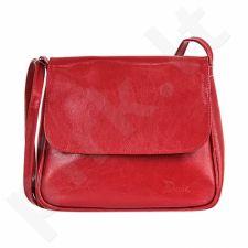 DAN-A T225 raudona rankinė, odinė