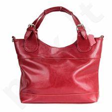 DAN-A T214 raudona rankinė, odinė, moterims