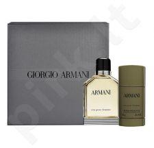 Giorgio Armani Eau Pour Homme (2013) rinkinys vyrams, (EDT 100ml + 75ml pieštukinis dezodorantas)