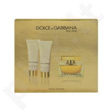 Dolce & Gabbana The One rinkinys moterims, (EDP 75ml + 50ml kūno losjonas + 50ml dušo želė)