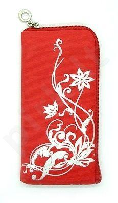14-B sidabrinis DRAW universalus dėklas 1 Telemax raudonas