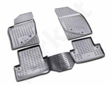 Guminiai kilimėliai 3D VOLVO S60 2001-2009, 4 pcs. /L64004G /gray