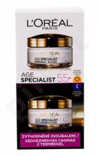 L´Oréal Paris 55+, Age Specialist, rinkinys dieninis kremas moterims, (Daily Facial Care 50 ml + Night Facial Care 50 ml)