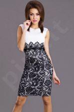 Emamoda suknelė - balta spalva 6817-1