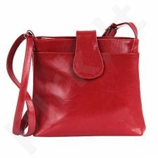 DAN-A T236 DAN-A raudona rankinė, odinė, moterims