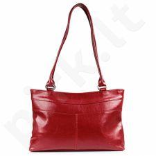 DAN-A T239 raudona rankinė, odinė, moterims