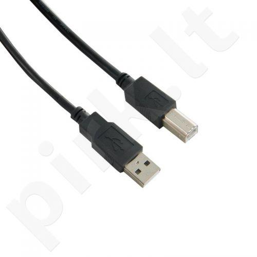 4World Kabelis USB 2.0 tipas A-B M/M 5m High Quality ferryt