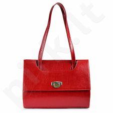 DAN-A T242 raudona rankinė, odinė, moterims