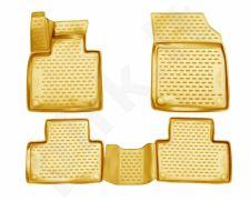 Guminiai kilimėliai 3D VOLVO XC90, 2015->, 4 pcs. /L64002B /beige