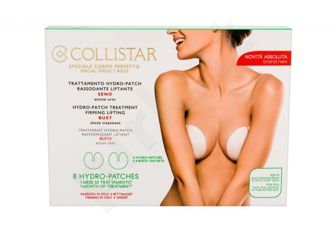 Collistar Special Perfect Body, Hydro-Patch Treatment, Bust Care moterims, 8pc