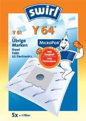 Maišeliai dulkių siurbliams SWIRL Y64/61/5 MP1 D.s. filtras