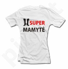 """Moteriški marškinėliai """"SUPER MAMYTĖ"""""""