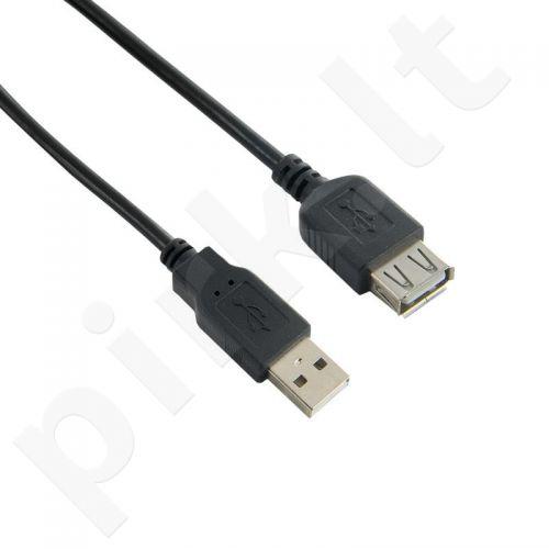 4World  Prailginantis kabelis USB 2.0 tipas A-A M/F 3m HQ, ferryt