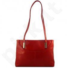 DAN-A T3 raudona rankinė, odinė, moterims