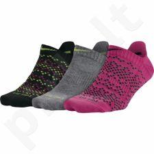 Kojinės Nike Dri-FIT Graphic No-Show Tab 3 poros SX5086-903