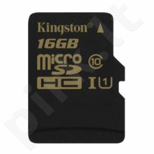 Atminties kortelė Kingston microSDHC 16GB UHS1, 90/45MBs