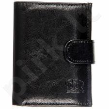 P149 juoda odinė piniginė, vyrams