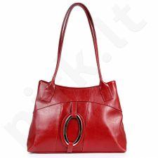 DAN-A T8 raudona rankinė, odinė, moterims