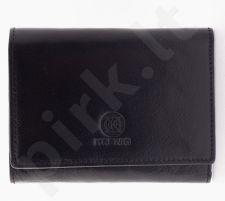 KRENIG Classic 12063 juoda piniginė iš natūralios odos, moterims