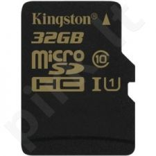 Atminties kortelė Kingston Micro SDHC 32GB UHS-I, 90/45MBs
