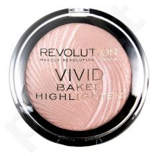 Makeup Revolution London Vivid Baked Highlighter, kosmetika moterims, 7,5g, (Peach Lights)