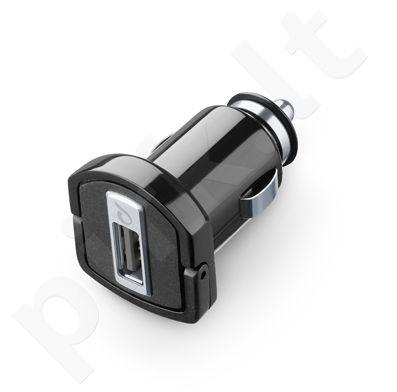 USB automobilinis įkroviklis 2A Cellular juodas