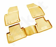 Guminiai kilimėliai 3D VOLVO S40 2004-2012, 4 pcs. /L64003B /beige
