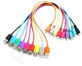 4World Kabelis USB 2.0 MICRO 5pin AM/B MICRO perkėlimo/įkrovimo 1.0m violetinė
