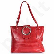 DAN-A T17 raudona rankinė, odinė, moterims