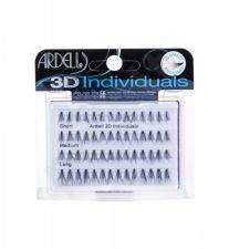 Ardell Combo Pack, 3D Individuals, rinkinys dirbtinės blakstienos moterims, (Individual Lashes 14 pcs Short Black + Individual Lashes 14 pcs Medium Black + Individual Lashes 28 pcs Long Black)
