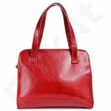 DAN-A T244 raudona rankinė, odinė, moterims