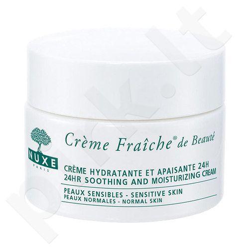 Nuxe Creme Fraiche 24hr Soothing prabangus kremas Dry Skin, kosmetika moterims, 50ml