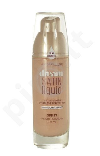 Maybelline Dream Satin Liquid Foundation SPF13, kosmetika moterims, 30ml, (4 Light Porcelain)
