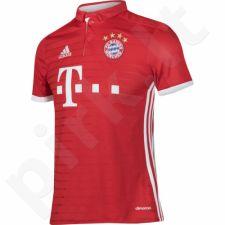 Marškinėliai futbolui Adidas FC Bayern Monachium Lewandowski Home Junior AI0055