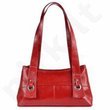 DAN-A T6 raudona rankinė, odinė, moterims